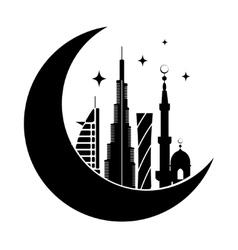 Dubai city silhouette symbol vector