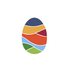 egg colorful logo vector image