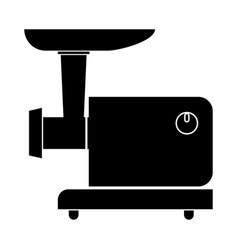 electric meat mincer black color icon vector image