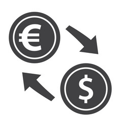 Exchange currency icon vector