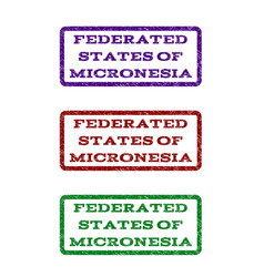 Federated states micronesia watermark stamp vector