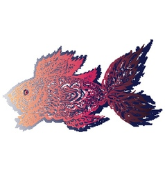 Fish Grunge Lineart vector