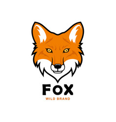 Fox head character red fox mascot vector