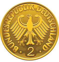 German 2 Dollar Coin vector