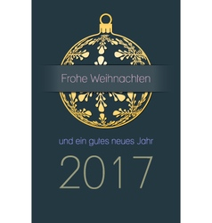 German Christmas and New Year 2017 background vector image