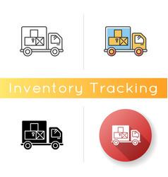 Goods receipt icon logistics distribution vector
