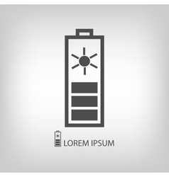 Grey solar battery vector