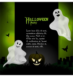 Halloween ghost background with sample text vector