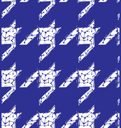 Hand drawn houndstooth seamless pattern vector