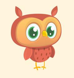 happy cartoon owl vector image