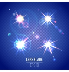 Highly detailed lens flares set vector
