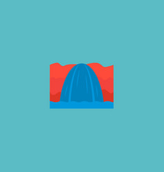 Icon flat niagara falls element vector