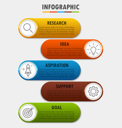 infographicfor diagram business with 5 options vector image