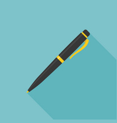 ink pen icon with long shadow vector image