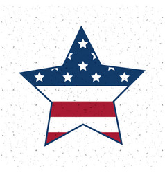 isolated usa star flag design vector image