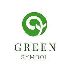 leaf creative concept logo design template green vector image