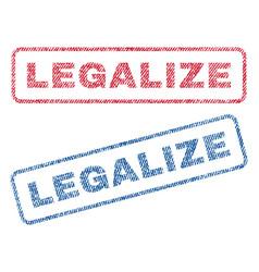 Legalize textile stamps vector