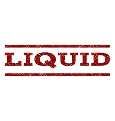 Liquid Watermark Stamp vector image