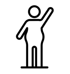 Man overweight icon outline style vector