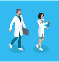 medical worker medics set vector image
