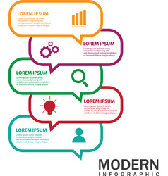 modern infographic for diagram vector image