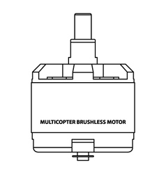 MultiCopter Brushless Motor vector