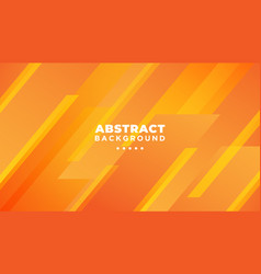orange abstract geometric background modern shape vector image