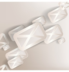 paper background with web letter iconflat design vector image