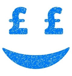 Pound Businessman Smile Grainy Texture Icon vector