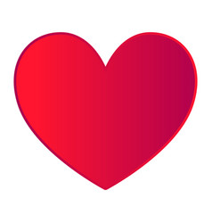Red heart on white background vector