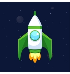 Rocket icons vector image