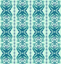 Seamless abstract pattern of wavy ornament vector