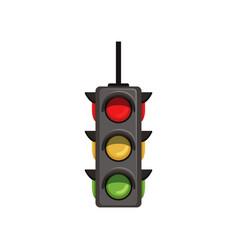 Semaphore with vertical arrangement signals vector
