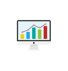 Seo monitoring flat icon vector