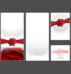 set of christmas background vector image