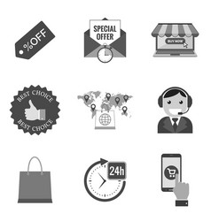set of commercial icons and symbols in trendy vector image