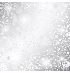 Shiny silver Christmas background vector