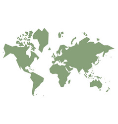 Simple world map vector