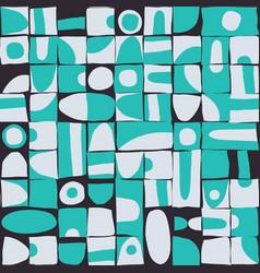 sloppy geometric shapes seamless pattern vector image
