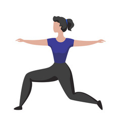 sport activity woman doing exercises athletic vector image
