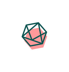 Stone diamond gem logo template icon isolated vector