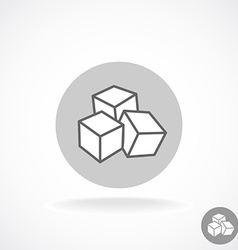 Sugar logo Three cubes vector