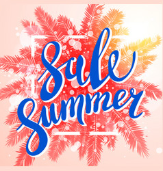 Summer sale exotic and tropic background design vector