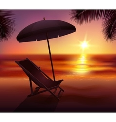 Sunset And Beach Background vector