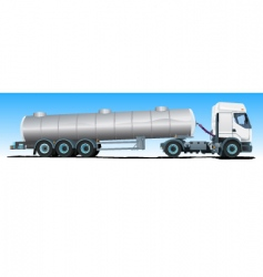 Tanker semitrailer truck vector