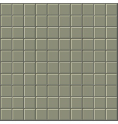 tiles pattern stylized wall in olive green gray vector image