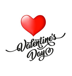 valentine s day hand drawn black lettering and vector image
