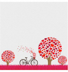 valentines day card with transparent background vector image