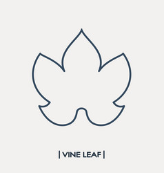 Vine leaf outline icon grape leaf vector