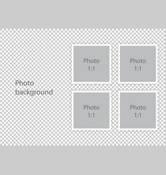 Wedding photo albums template photoframes vector